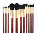 MIMO by Tools For Beauty, Set de 12 pinceaux à maquillage, marron