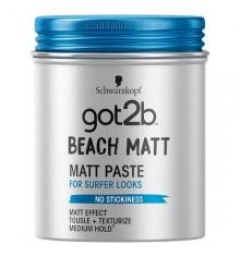 Schwarzkopf Got2b Beach Matt Pâte effet plage 100ml